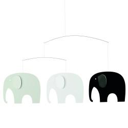 Mobile Eléphants Gris Flensted Mobiles