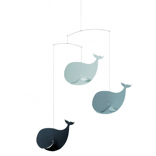 Mobile Happy Whales Grey Flensted Mobiles