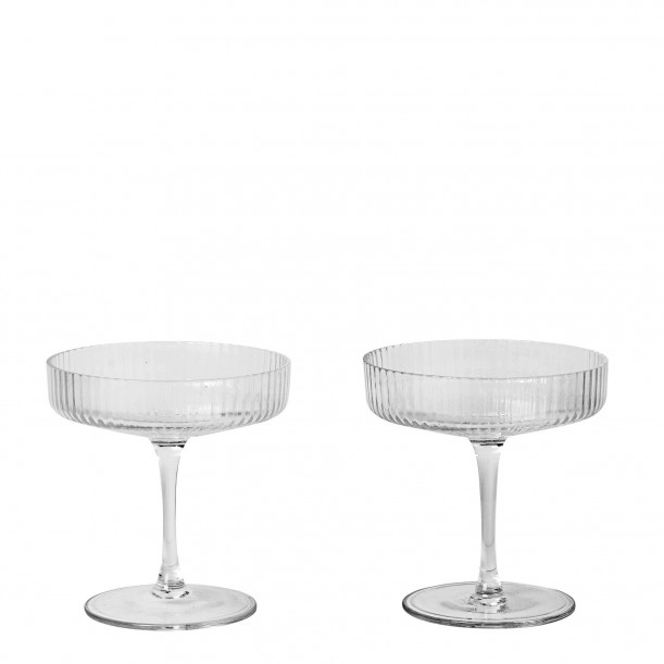 Ripple Champagne Saucer Diam 10,5 cm Set of 2 Ferm Living