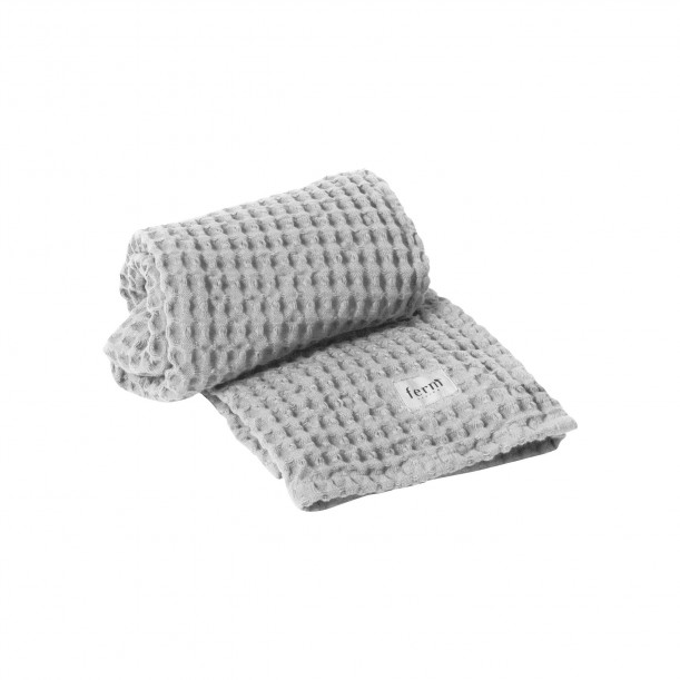 Organic Hand Towel Light Grey 100 x 50 cm Ferm Living