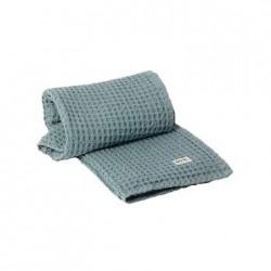 Organic Hand Towel Dusty Blue 100 x 50 cm Ferm Living