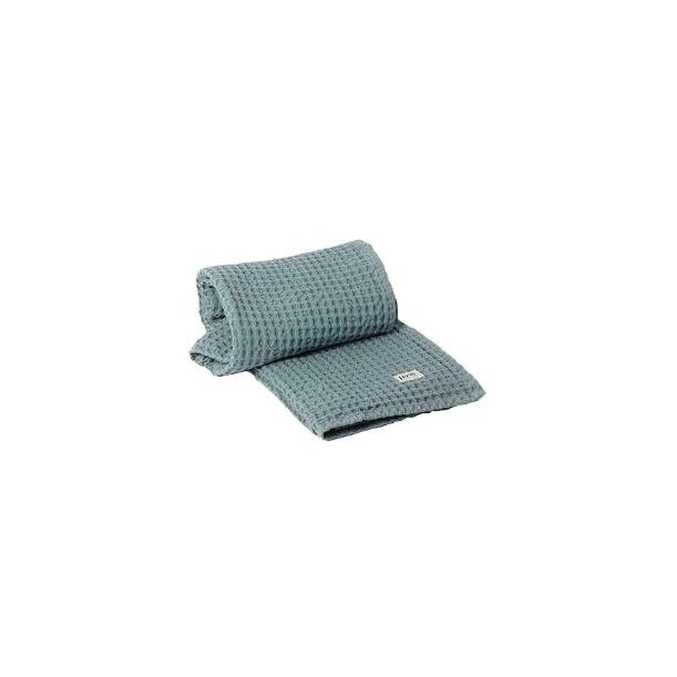 Organic Hand Towel Dusty Blue 100 x 50 cm Ferm Living