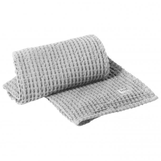 Organic Bath Towel Light Grey 140 x 70 cm Ferm Living