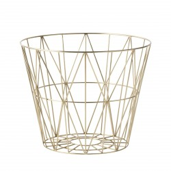 Wire Basket Brass Small Ferm Living