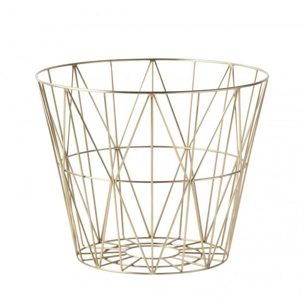 Wire Basket Brass Small Ferm Living