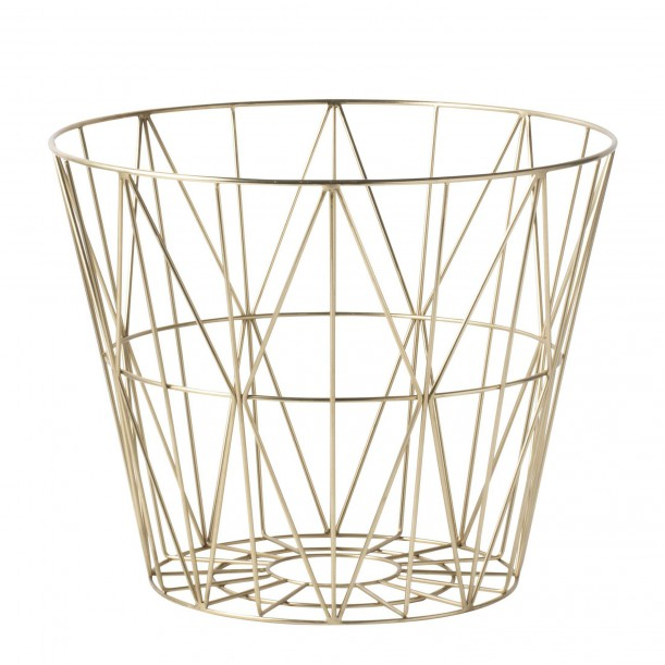 Wire Basket Brass Medium Ferm Living