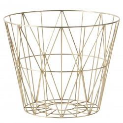Wire Basket Brass Large Ferm Living