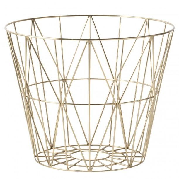 Wire Basket Brass Large Ferm Living