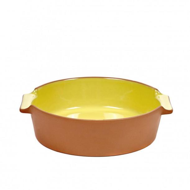 Oven Dish Terra Small Round Yellow L 23 x D 21,5 Jensen Co Serax