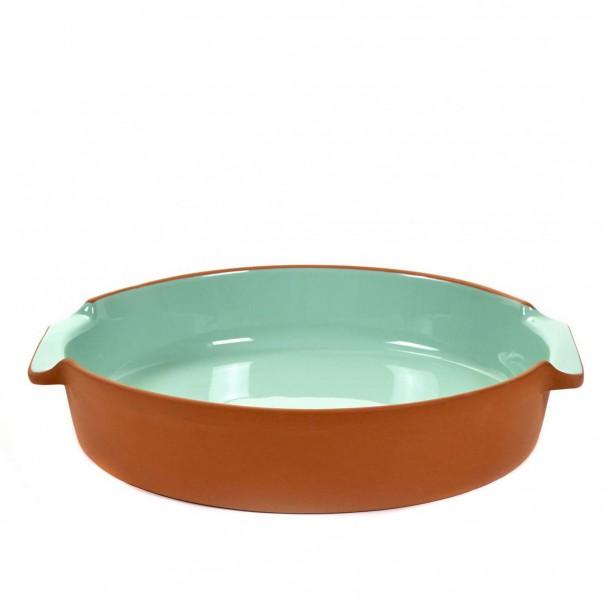 Oven Dish Terra Large Round Mint L 32 x D 28,5 Jensen Co Serax