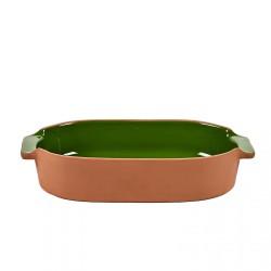 Oven Dish Terra Small Oval Green L 29 x 15 Jensen Co Serax