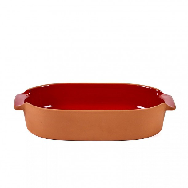 Oven Dish Terra Small Oval Red L 29 x 15 Jensen Co Serax