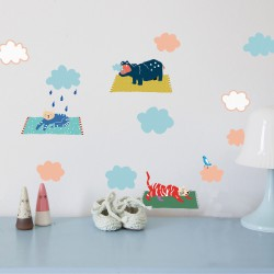 Wall Sticker Just a Touch Animals in the Sky Mimilou