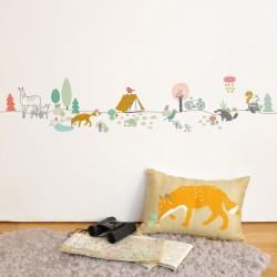 Sticker Mural Frise Forêt Mimilou