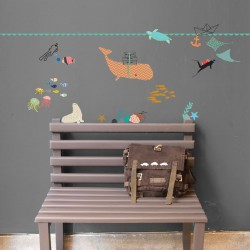 Wall border Sticker The Sea Mimilou
