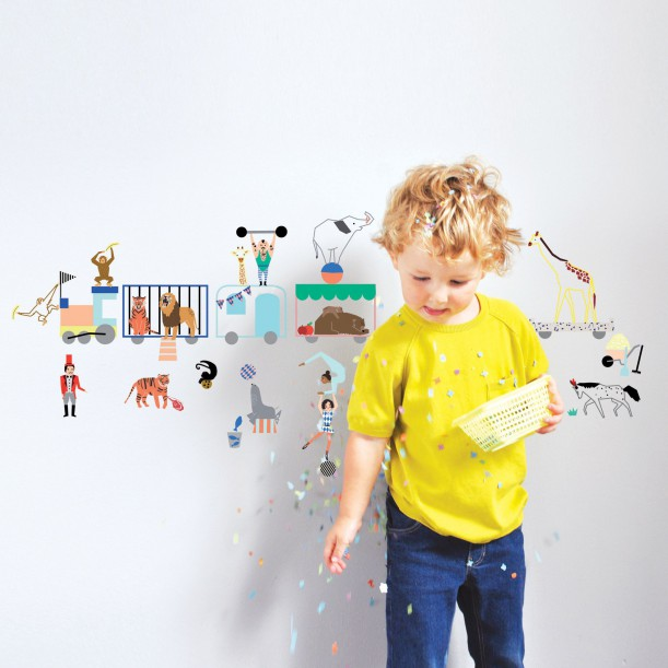 Wall Sticker Circus Train Mimilou