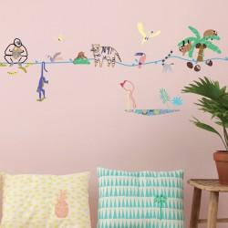Sticker Mural Frise Wild Mimilou