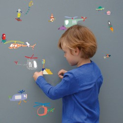 Sticker Mural Air Traffic Mimilou