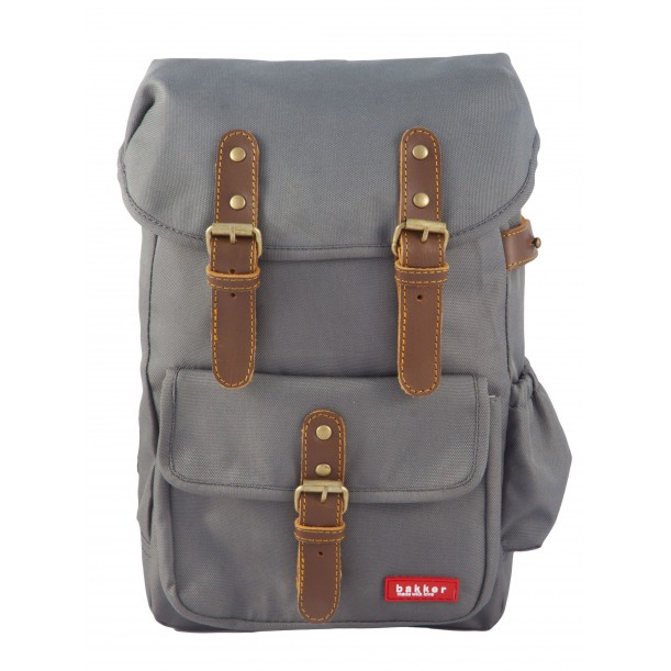 Small Backpack HIPHIP Grey 35 x 20 x 10 cm Bakker