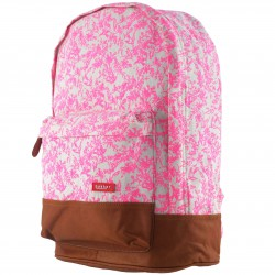 Backpack XL Jouy Rose Canvas and Leather 40 x 31 x 17 cm Bakker
