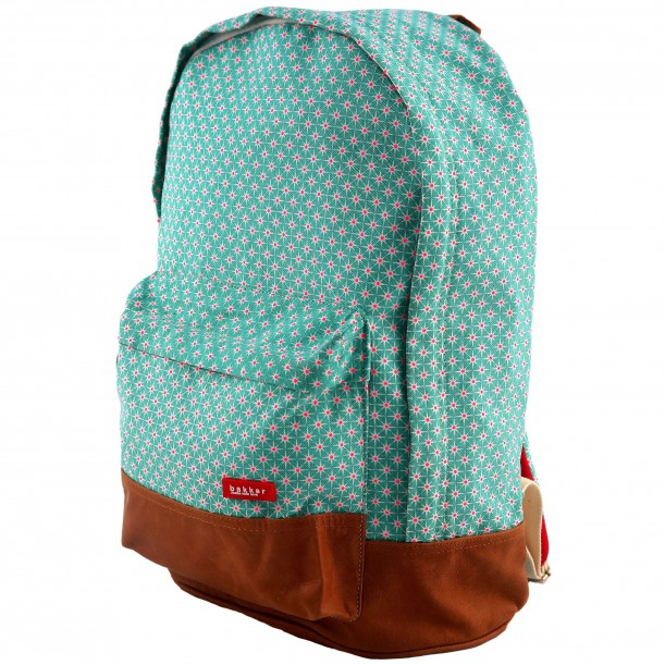 Backpack XL Star Canvas and Leather 40 x 31 x 17 cm Bakker