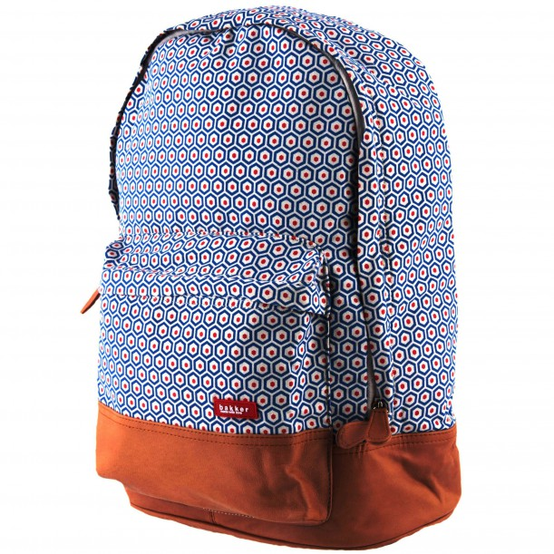 Backpack XL Kubus Canvas and Leather 40 x 31 x 17 cm Bakker