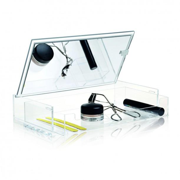 Boite Maquillage Transparente à Miroir Clear Nomess Copenhagen