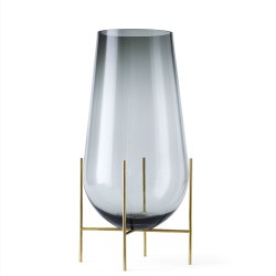 Vase Echasse Glass and Brass H 60 Diam 30 cm Menu