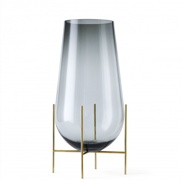 Vase Echasse Glass and Brass H 60 Diam 30 cm Menu