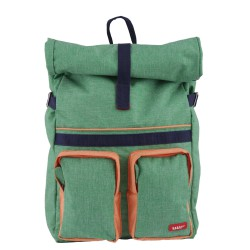 Large Backpack ROLLUP Green 46 x 33 x 12 cm Bakker
