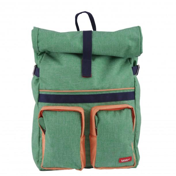 Large Backpack ROLLUP Green 46 x 33 x 12 cm Bakker