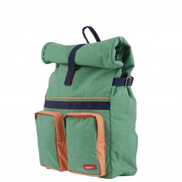 Small Backpack ROLLUP Green 37 x 24 x 10 cm Bakker