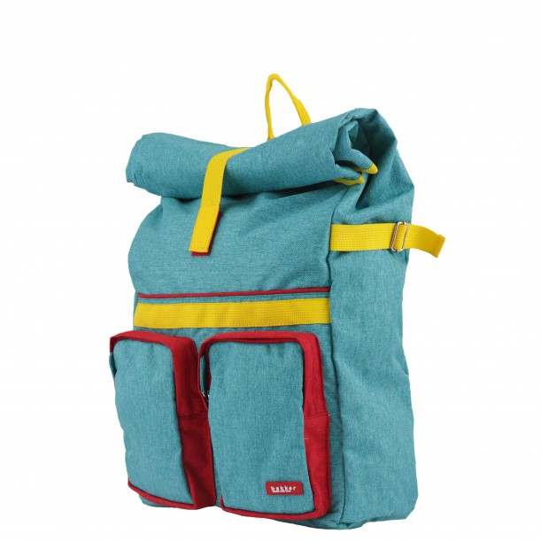 Small Backpack ROLLUP Turquoise 37 x 24 x 10 cm Bakker