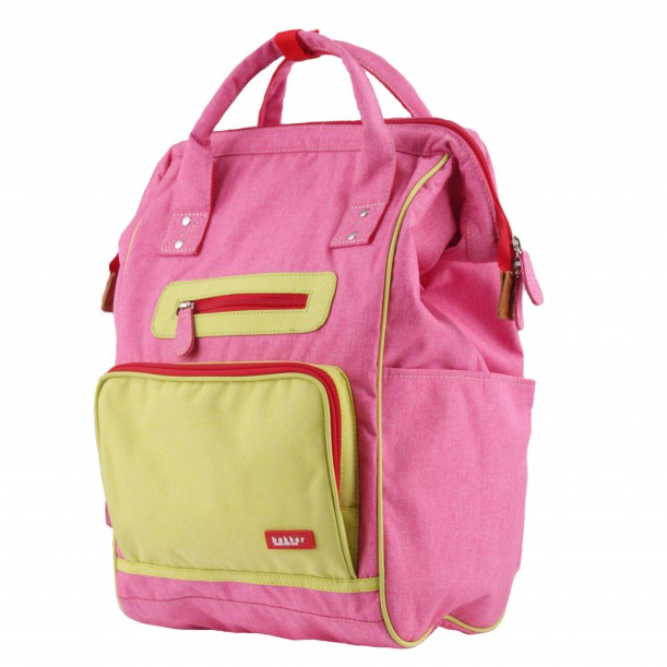 Backpack DOC Pink 42 x 28 x 19 cm Bakker Made With Love