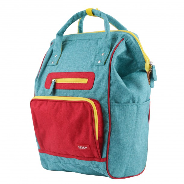 Backpack DOC Turquoise 42 x 28 x 19 cm Bakker Made With Love