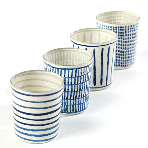 4 Candle Jars Feeling Blue Marie Serax