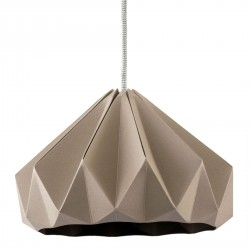Chesnut Origami Pendant Brown Diam 28 cm Snowpuppe