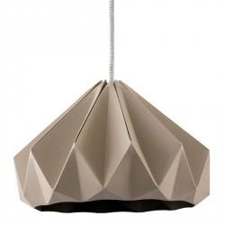 Suspension Origami Chesnut Taupe Diam 28 cm Snowpuppe