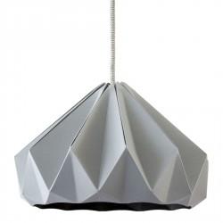 Suspension Origami Chesnut Grise Diam 28 cm Snowpuppe