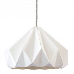 Suspension Origami Chesnut Blanche Diam 28 cm Snowpuppe