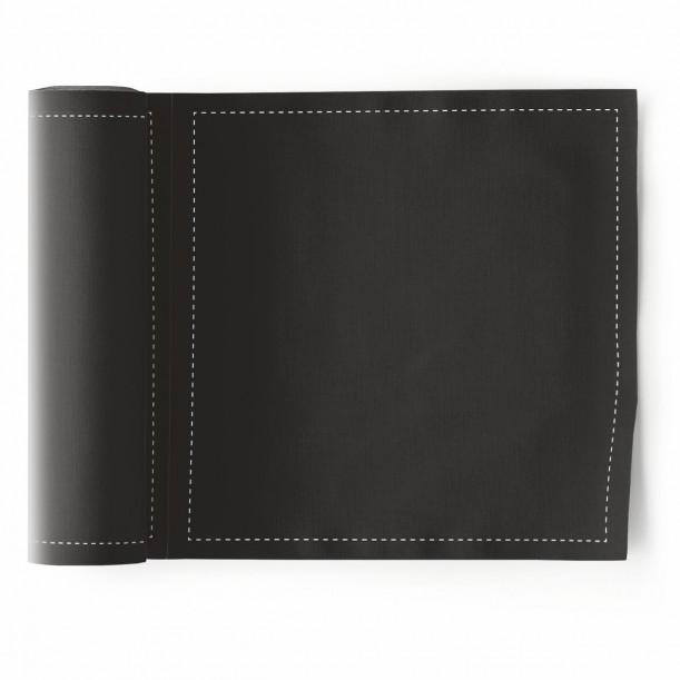 Rouleau de 25 Serviettes de Table Noir Mydrap