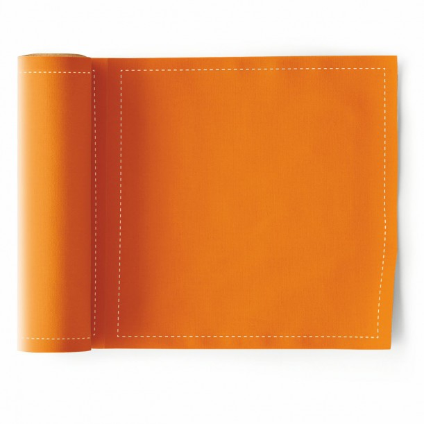 Rouleau de 25 Serviettes de Table Orange Mydrap