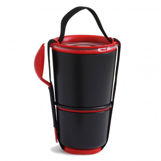 Lunch Pot Black and Red