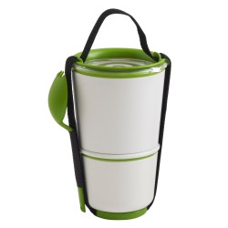 Lunch Pot White and Green