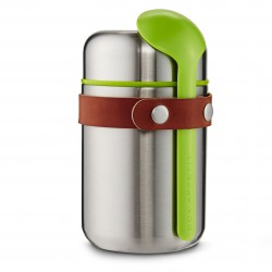 Stainless Steel Food Flask Black + Blum