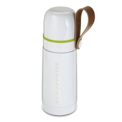 Bouteille Isotherme Thermo Flask Blanc Black + Blum