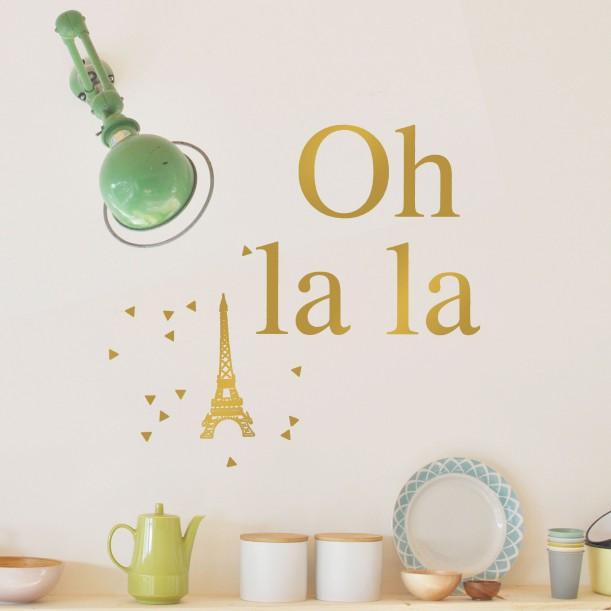 Wall Sticker Gold Oh La La Mimilou