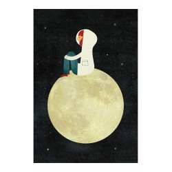 Affiche On the Moon Blanca Gomez