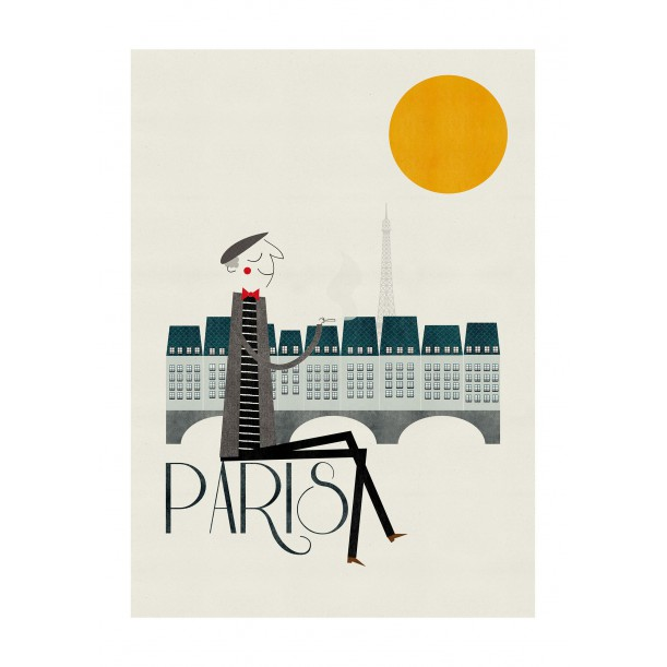 Print Paris Blanca Gomez