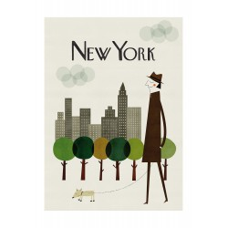 Affiche New York Blanca Gomez